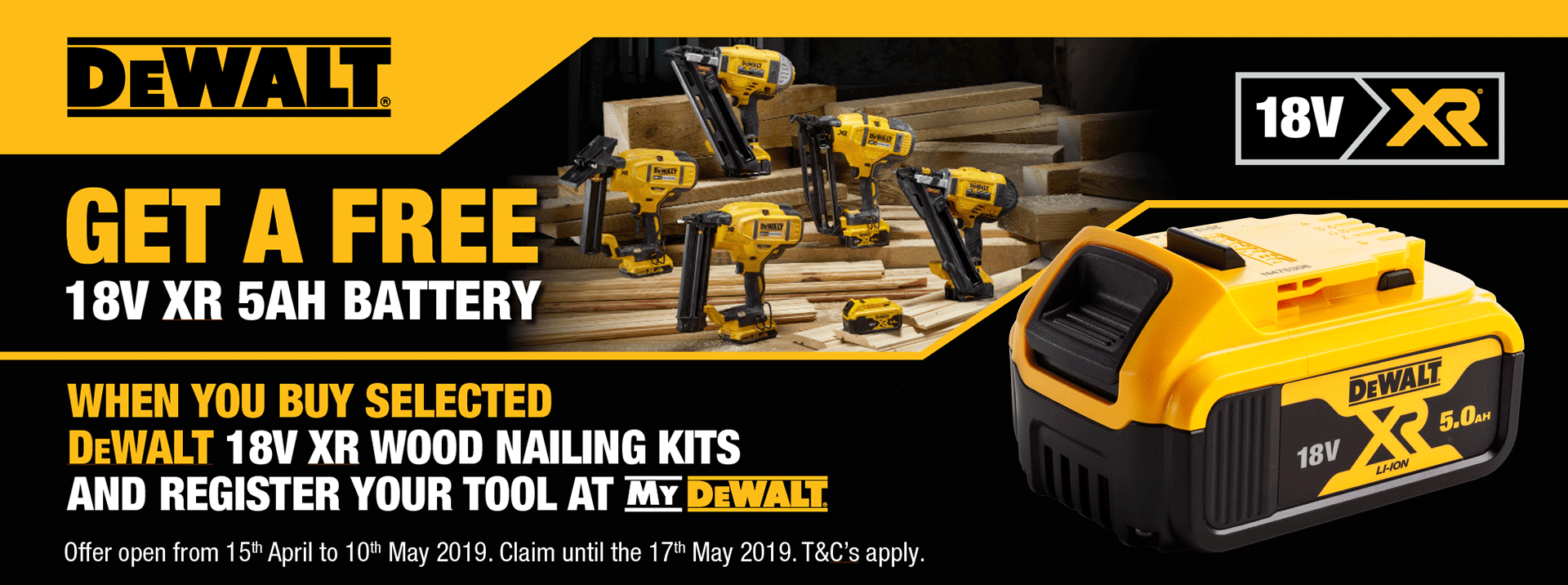 Dewalt Nailer Promotion